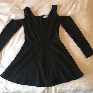 TOBI little black dress w/ off the shoulder sleeve